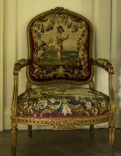 Louis XV Beauvais tapestry chair