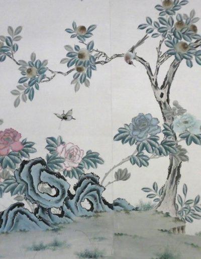 Handpainted Chinese wallpaper