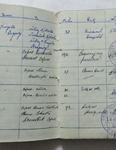 Miss Raphael's War Duty log book