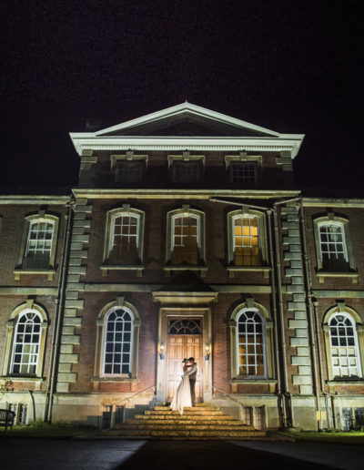 Kingston Bagpuize House lit up