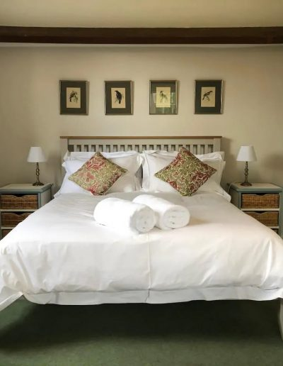 The king-size bed of the third bedroom