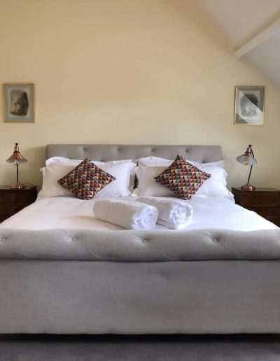 The super king-size bed in the master bedroom